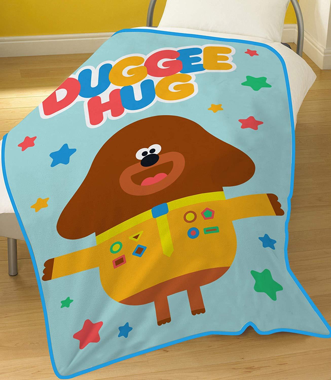 Hey Duggee Multi Colour Panel Fleece Blanket Throw