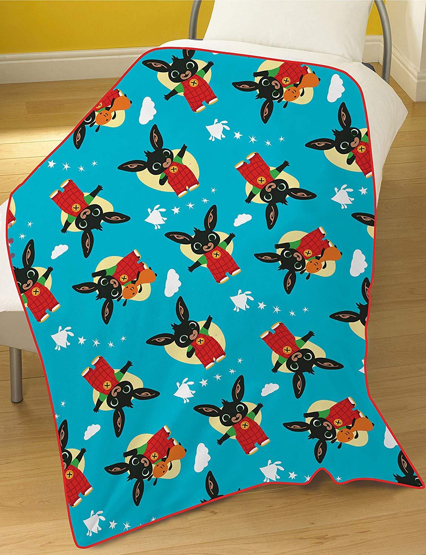 Bing Bunny Coral Rotary Fleece Blanket Throw