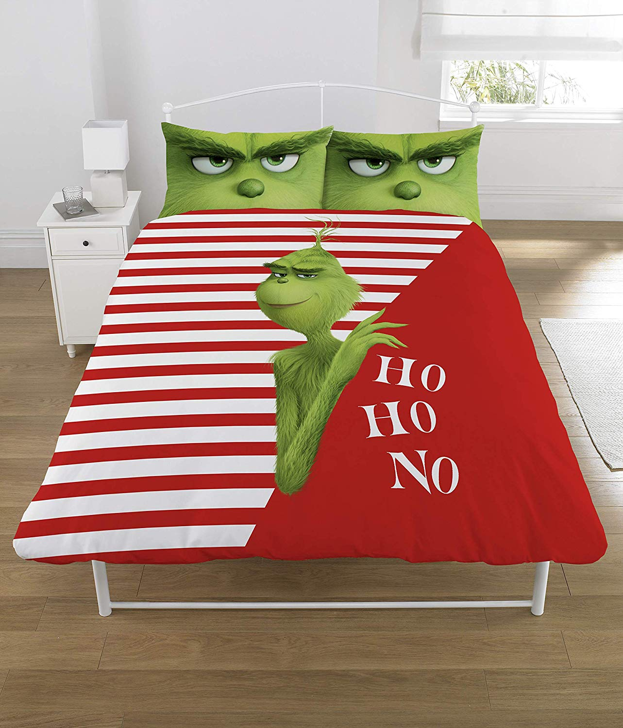 The Grinch Panel Double Bed Duvet Quilt Cover Set