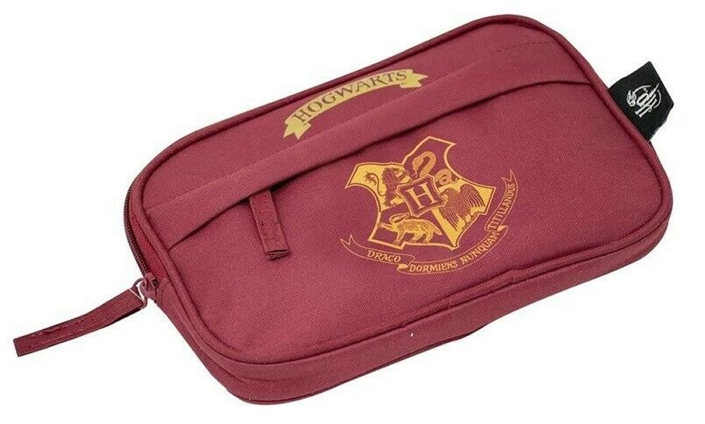 Harry Potter Burgundy Flat Pencil Case Stationery