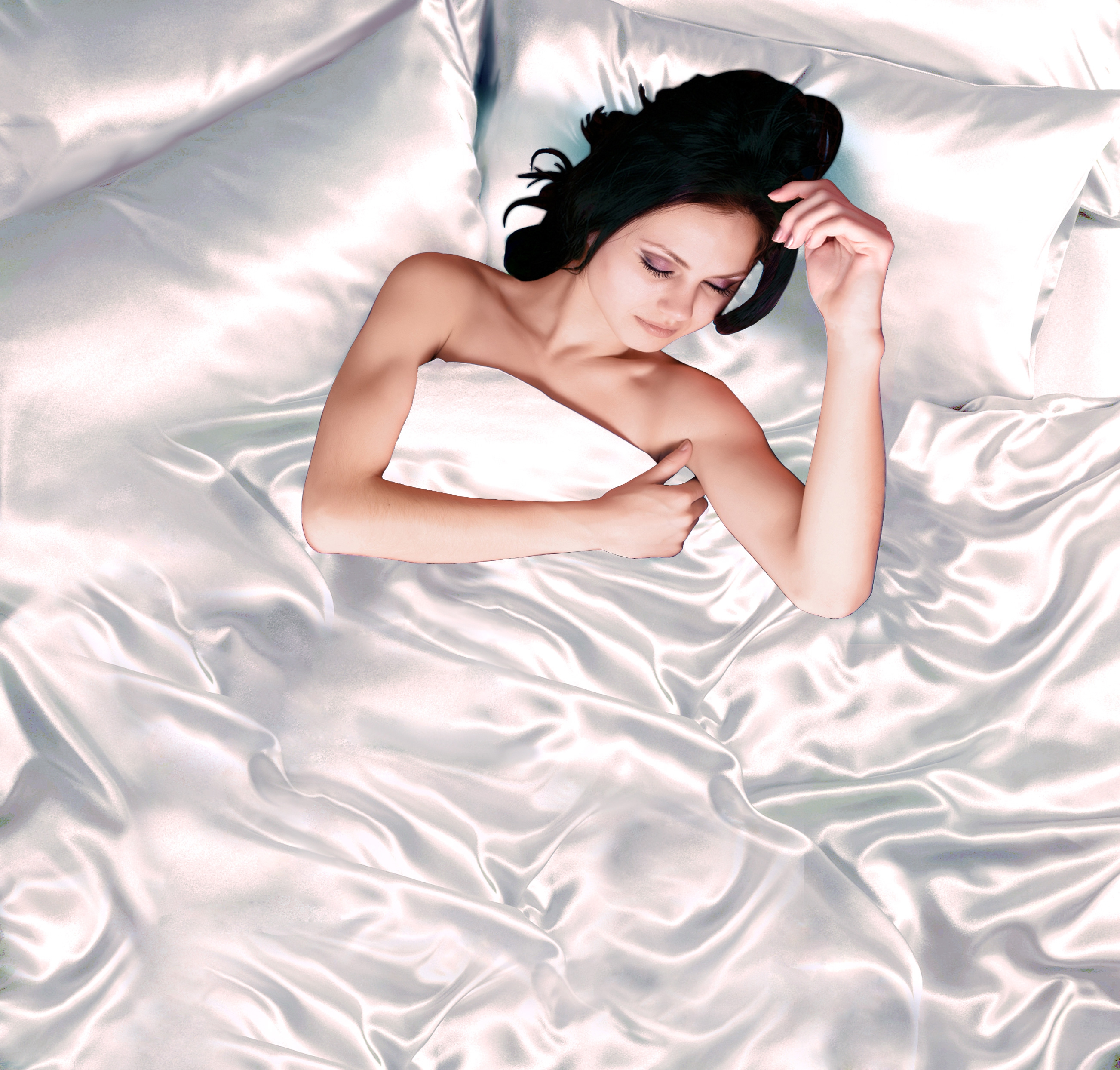 Todd Linens White 6pc Satin Panel Double Bed Duvet Quilt Cover Set