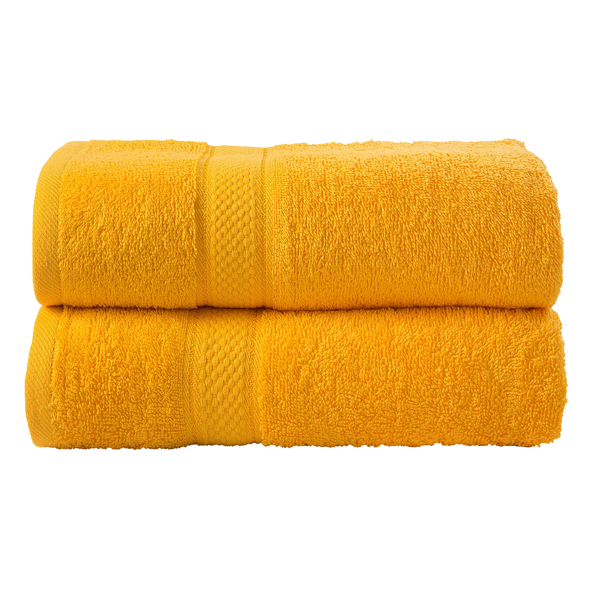 2 Pcs Bath Cotton Towel Bale Set Sunflower Plain