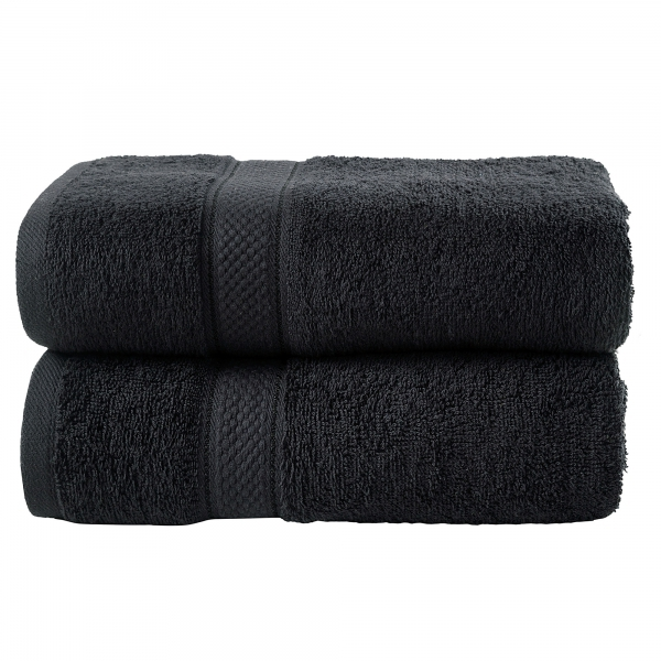 Bale Set 2pcs Black Plain Extra Large Bath Sheet Towel
