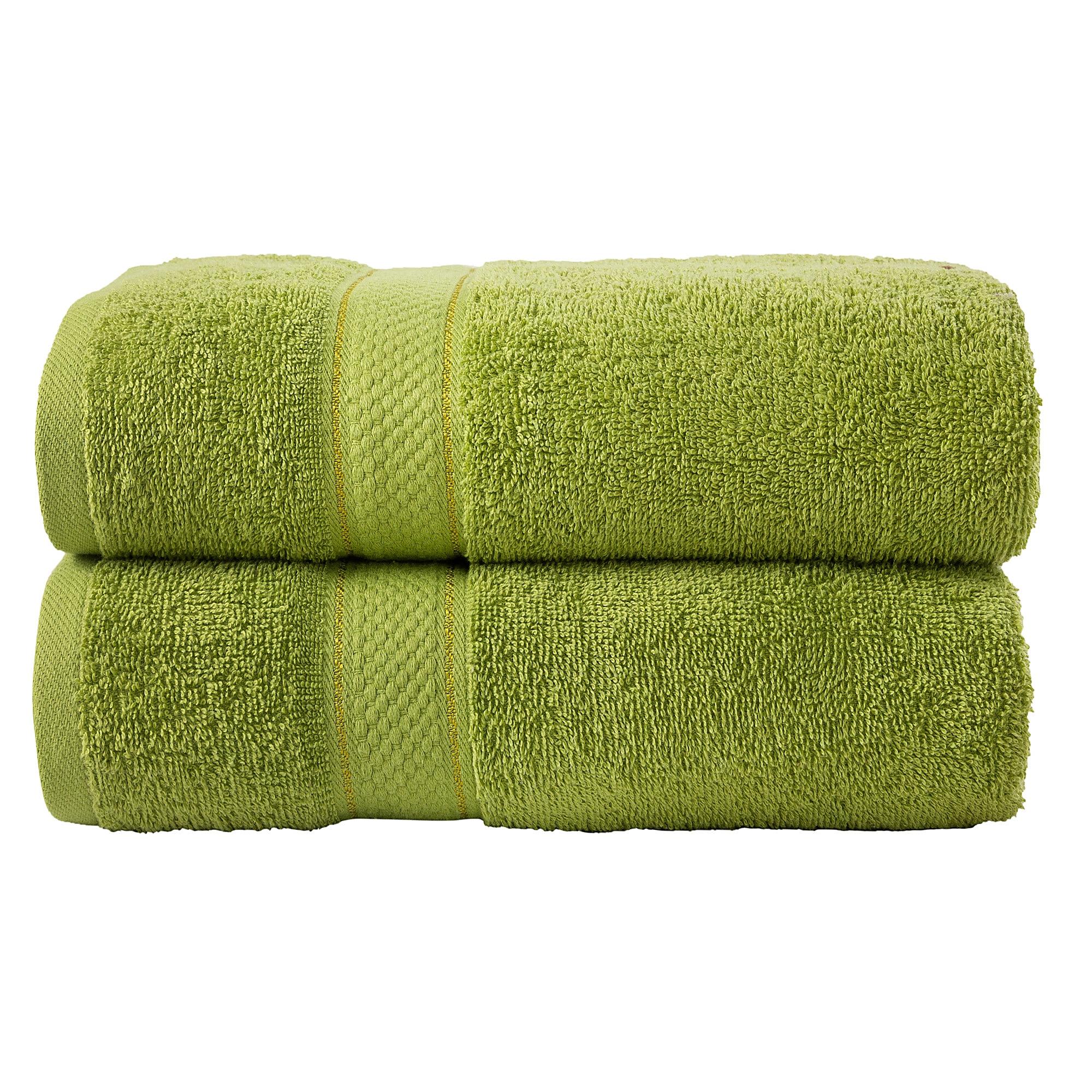 Bale Set 2pcs Olive Plain Extra Large Bath Sheet Towel