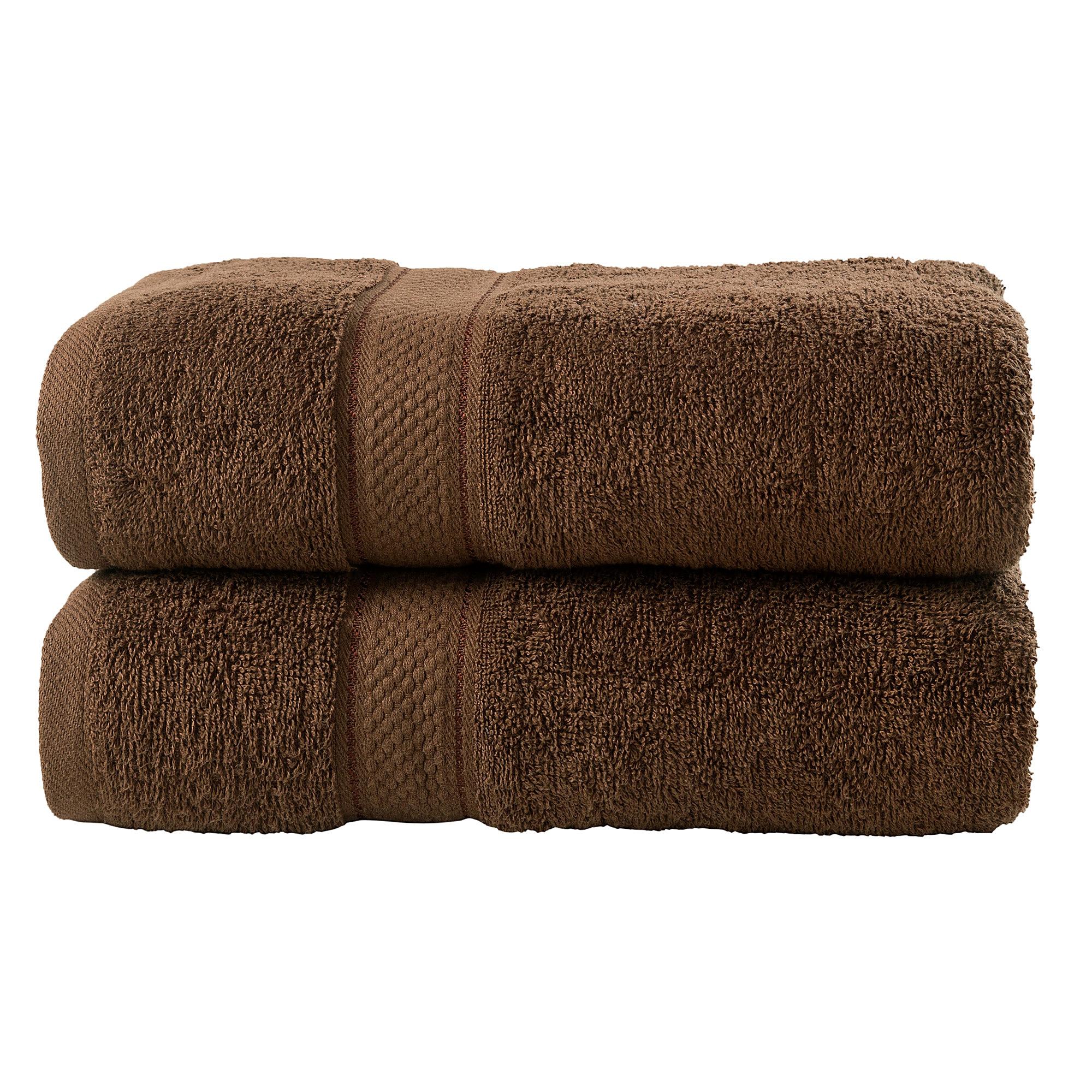 Bale Set 2pcs Chocolate Plain Extra Large Bath Sheet Towel