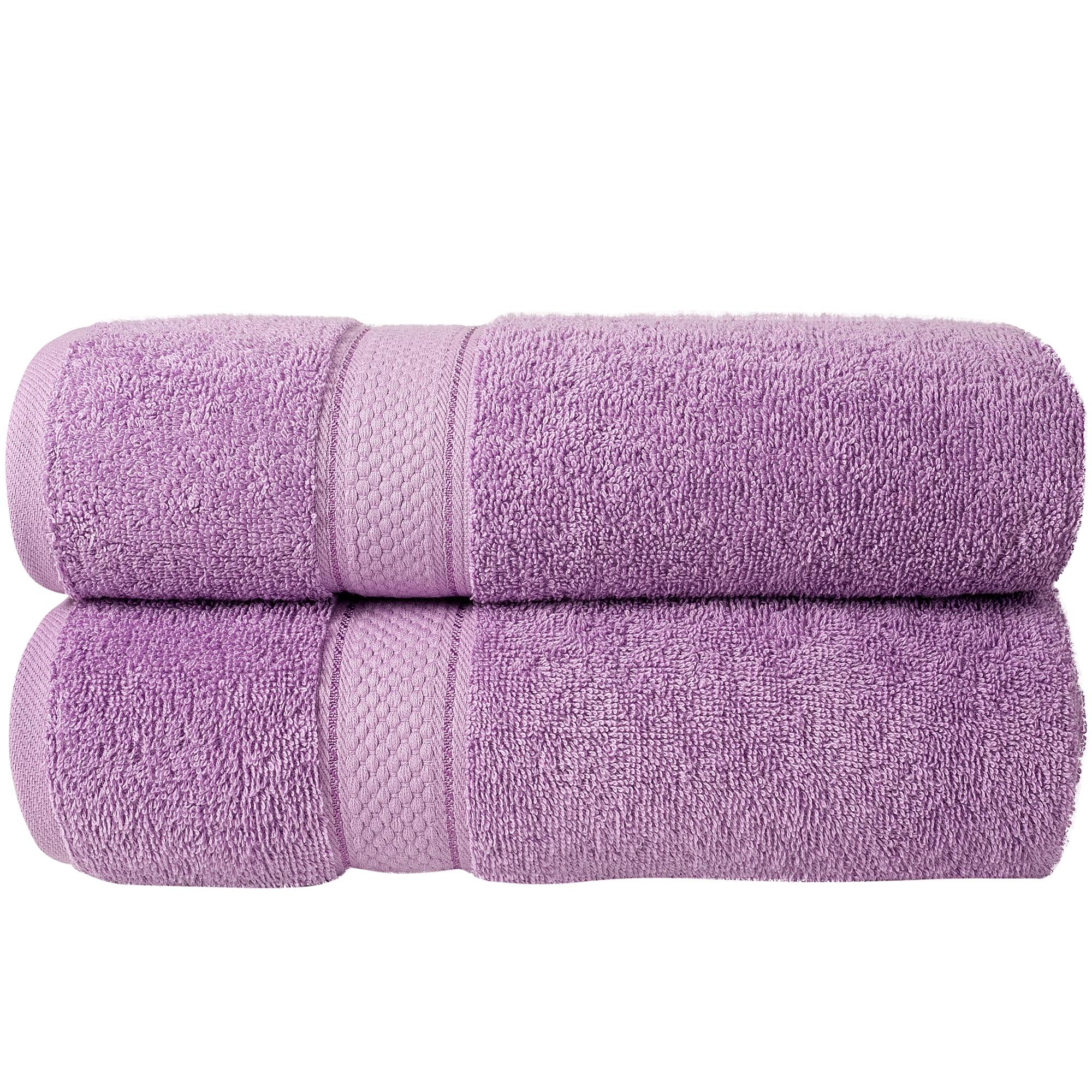 Bale Set 2pcs Lilac Plain Bath Towel
