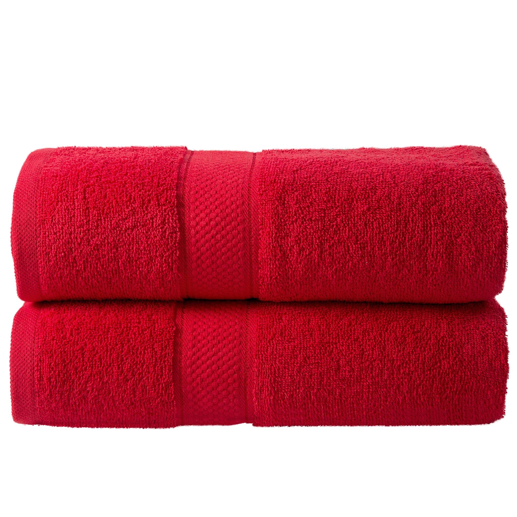 Bale Set 2pcs Red Plain Bath Towel