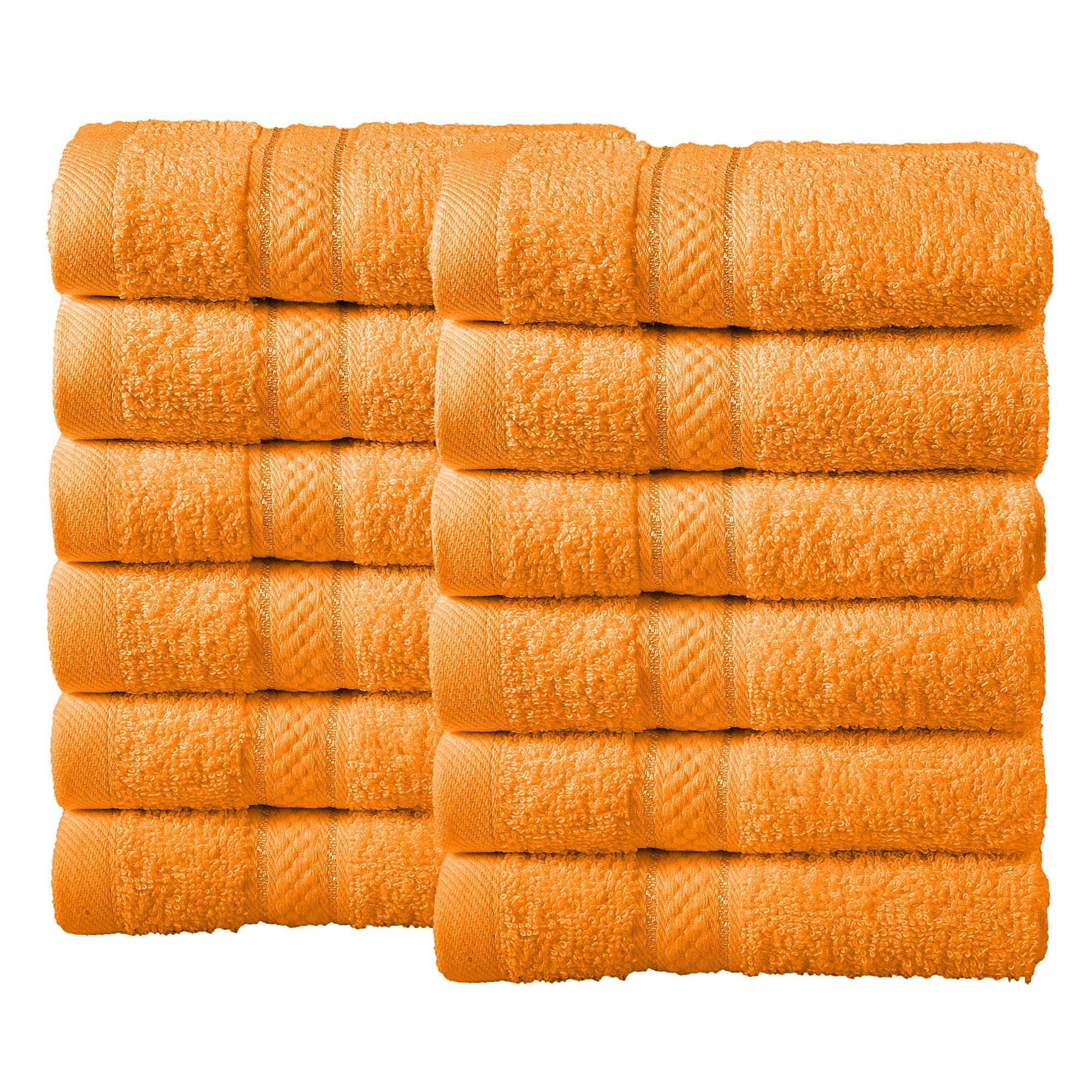 Bale Set 12pcs Orange Plain Face Towel