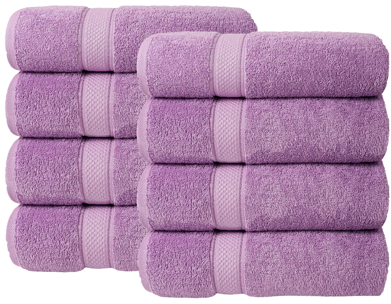 Bale Set 8pcs Lilac Plain Hand Towel