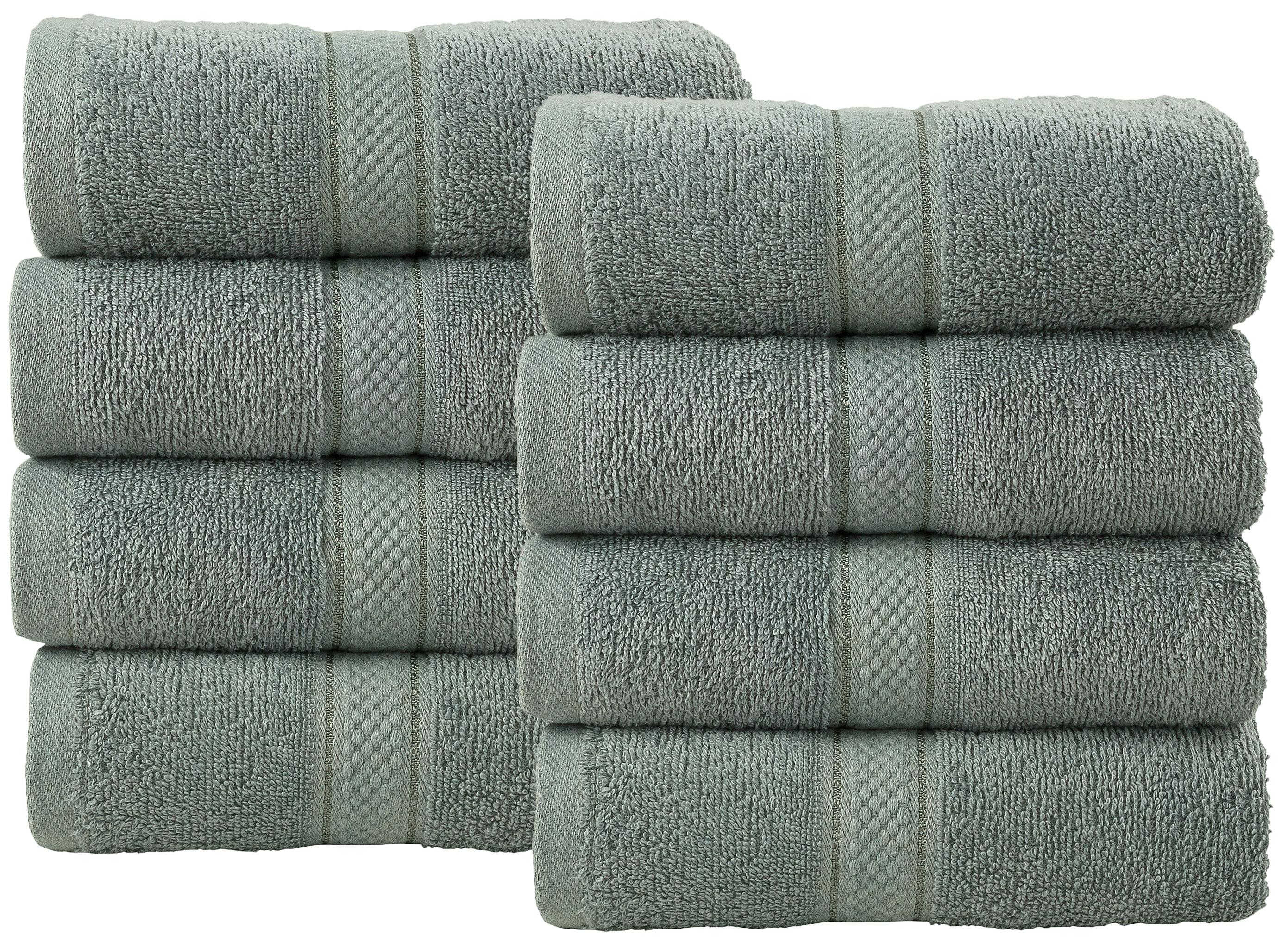 Bale Set 8pcs Silver Plain Hand Towel
