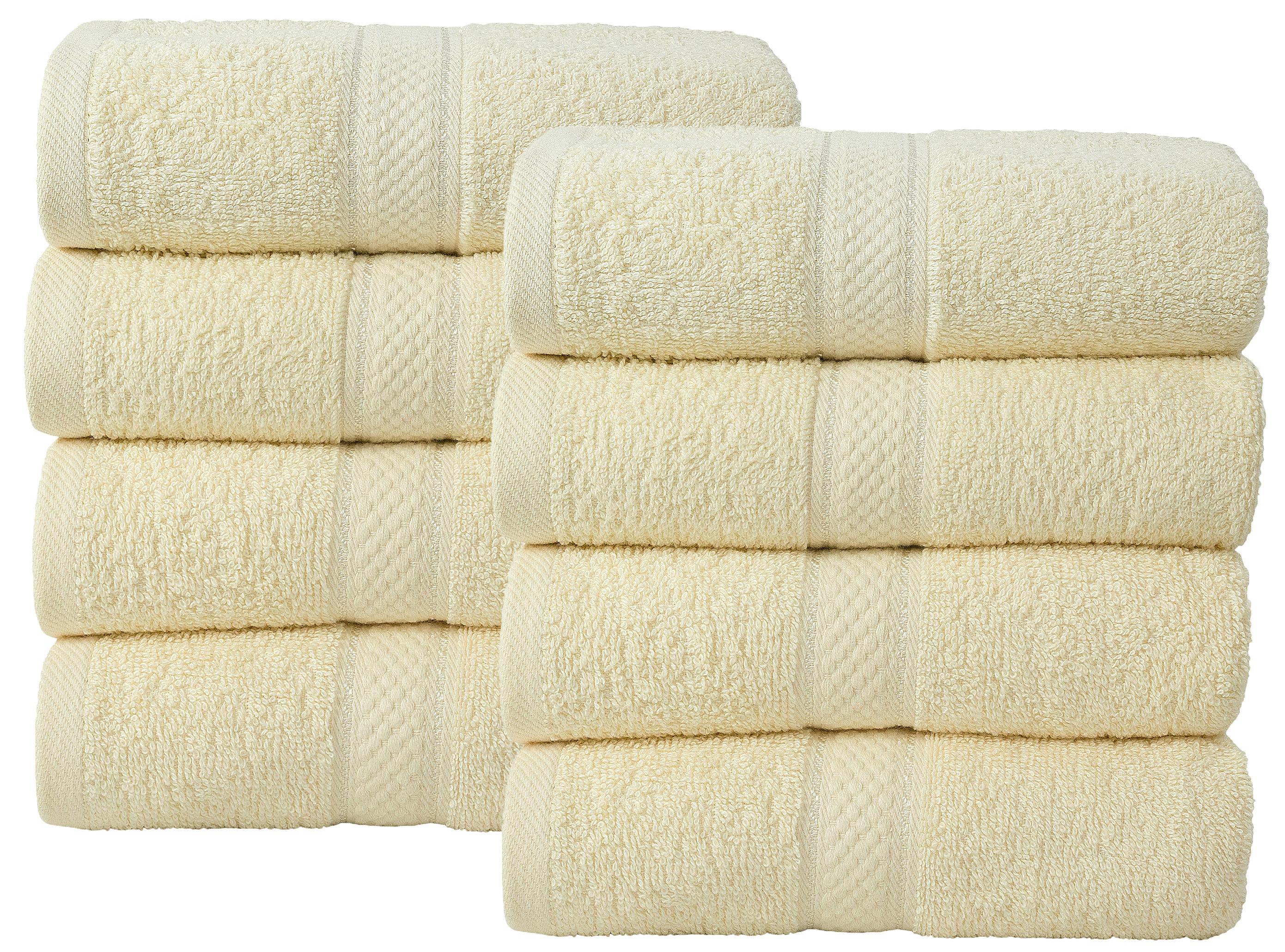 Bale Set 8pcs Cream Plain Hand Towel