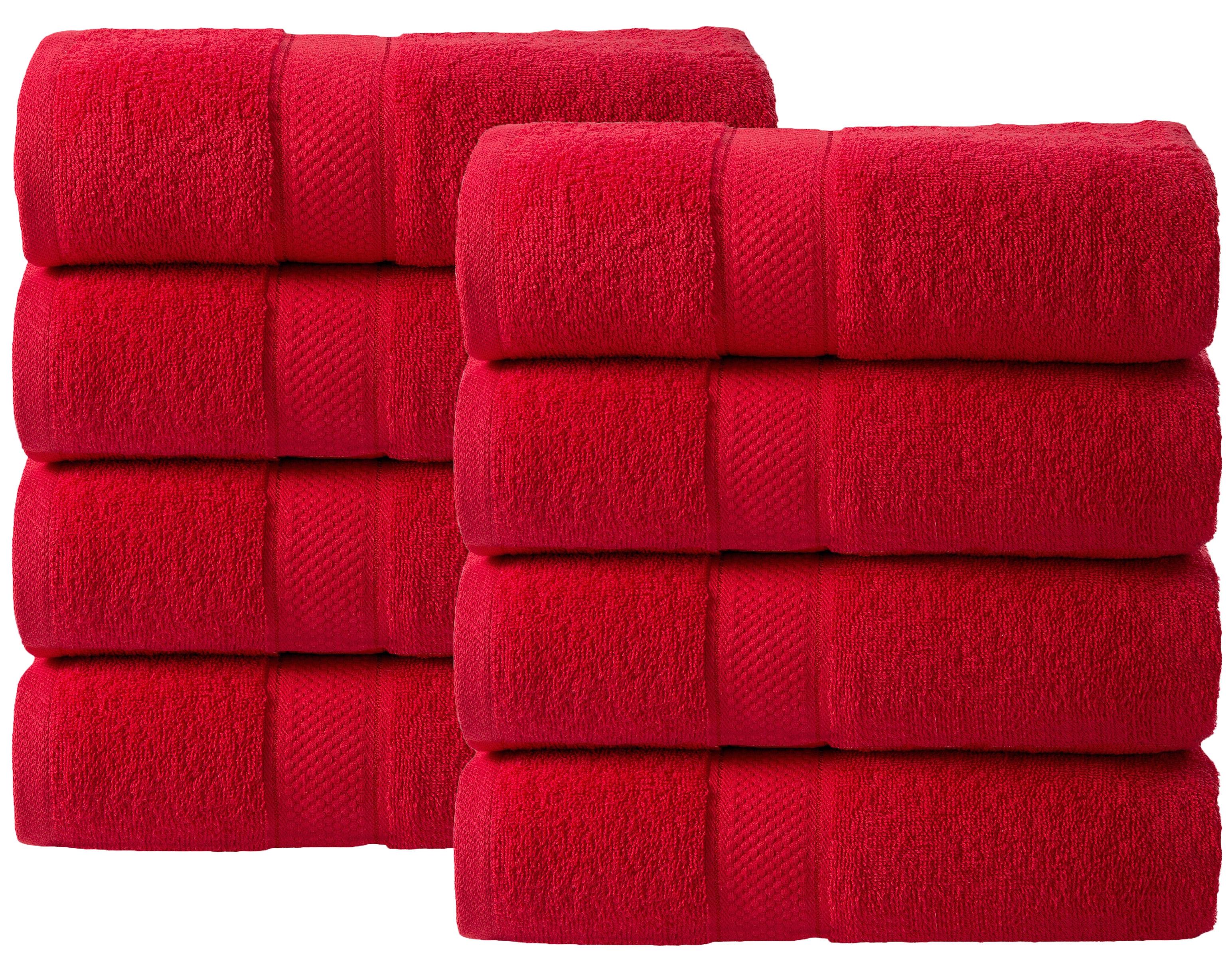 Bale Set 8pcs Red Plain Hand Towel