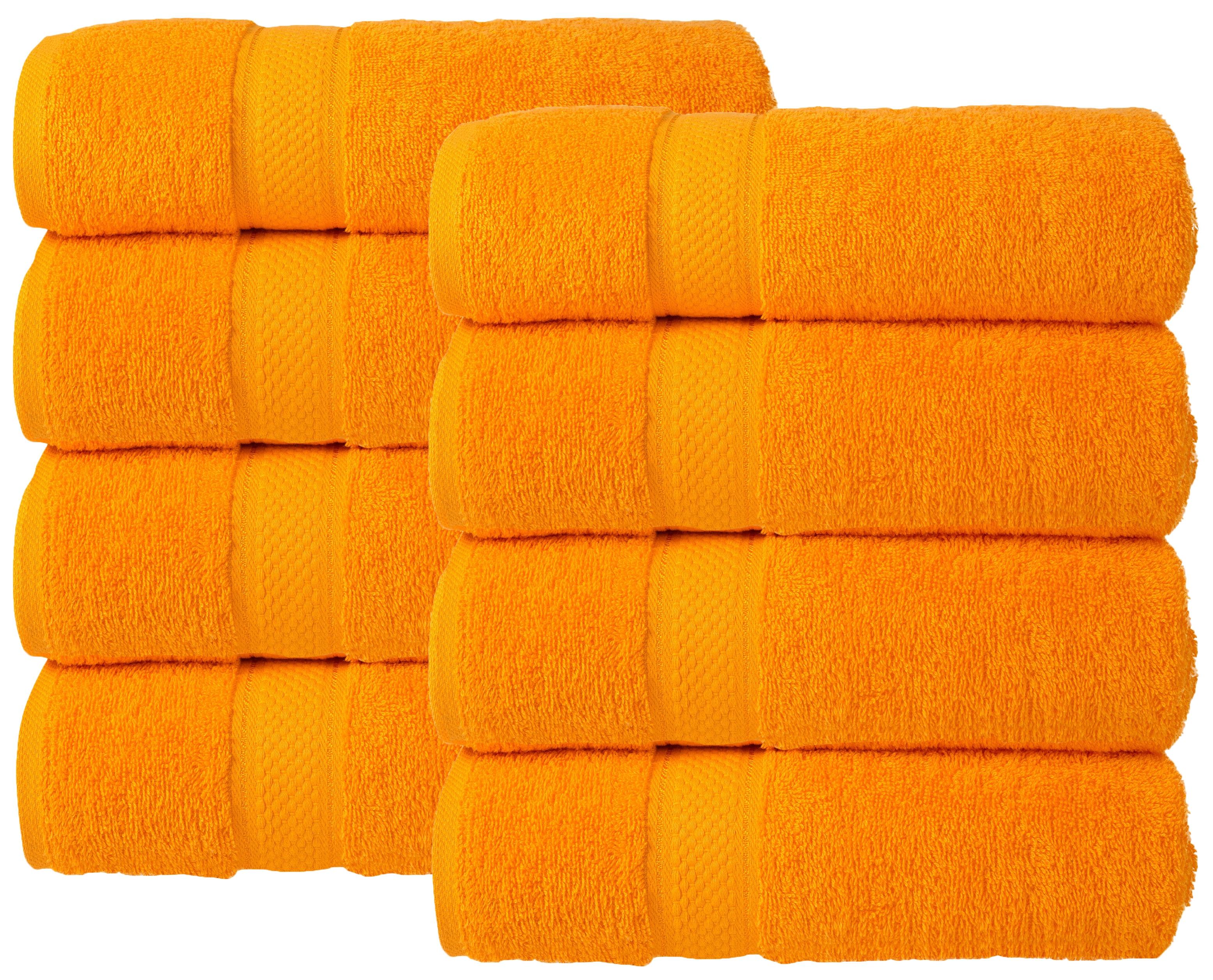 Bale Set 8pcs Orange Plain Hand Towel