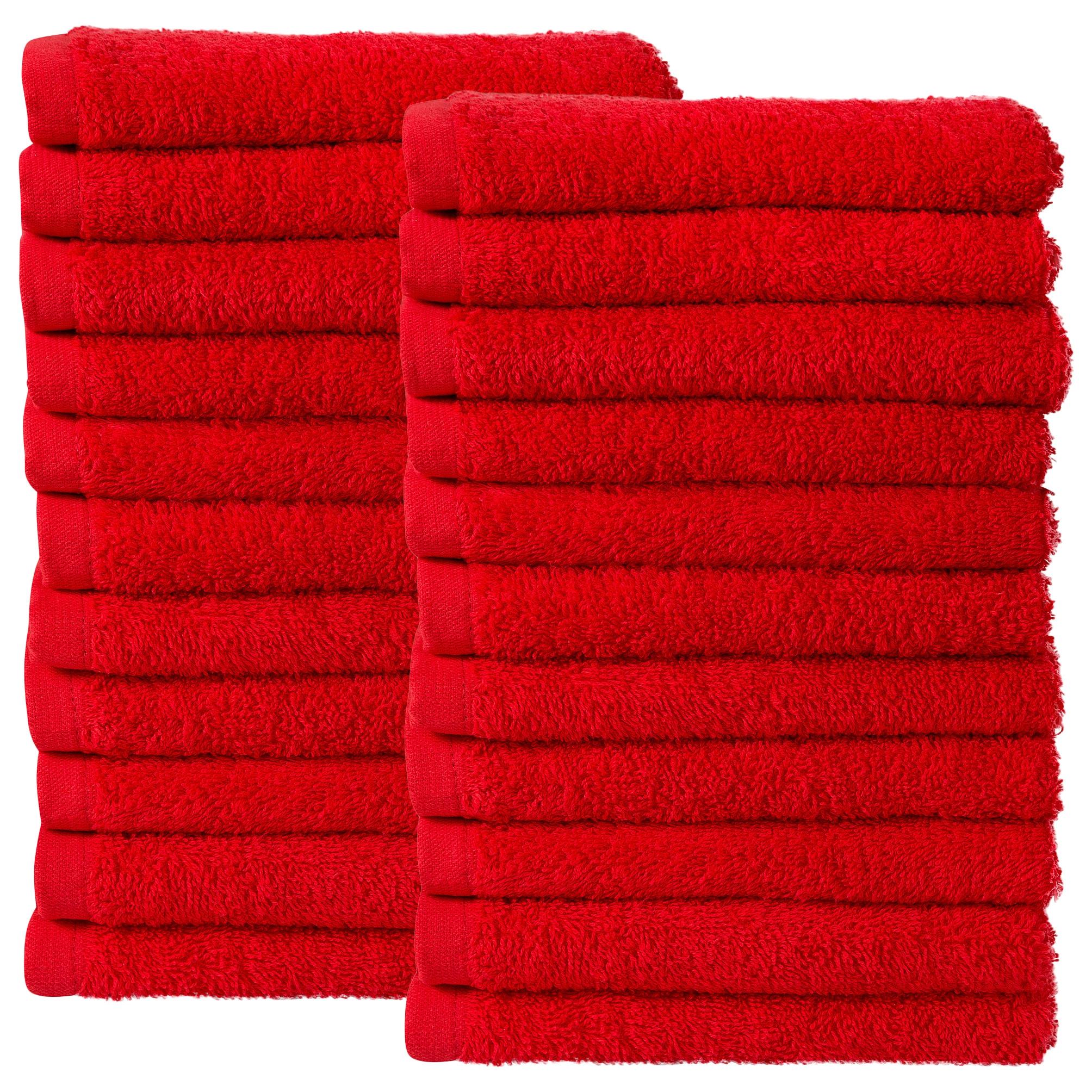 Bale Set 24pcs Red Plain Face Towel