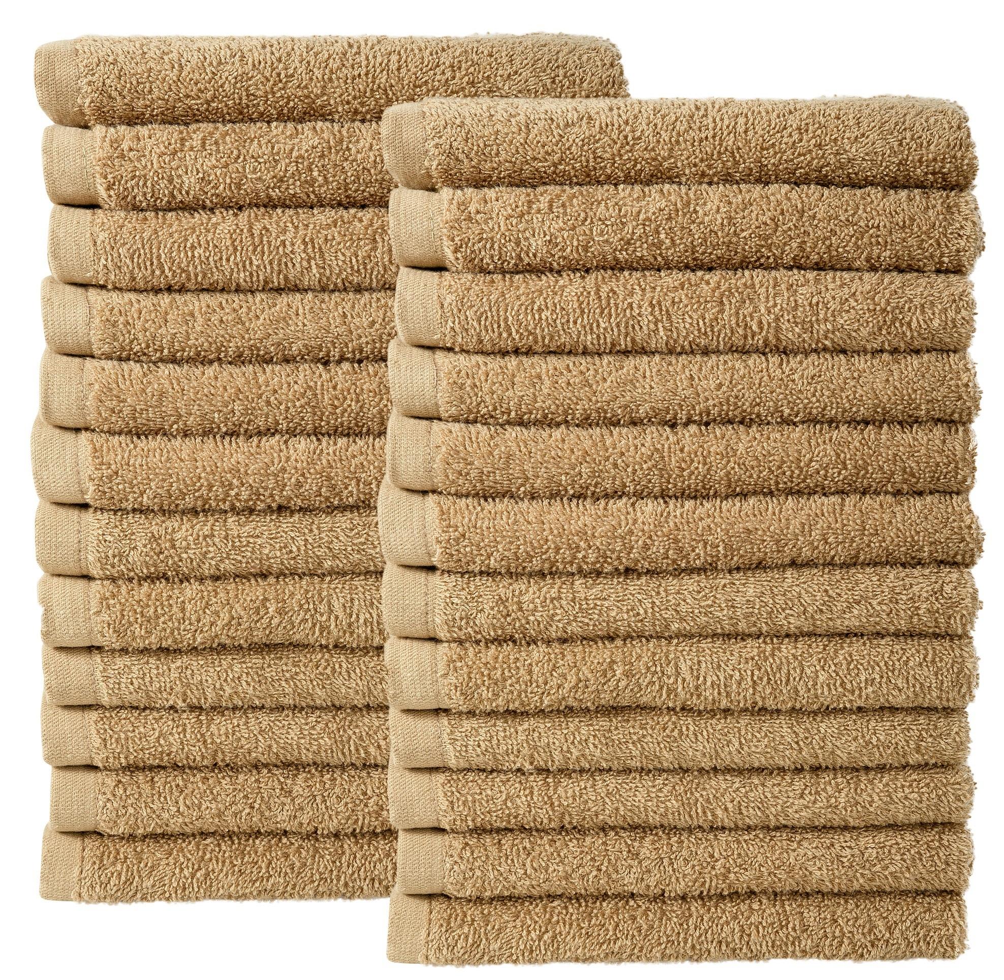 Bale Set 24pcs Iced Coffee Plain Face Towel