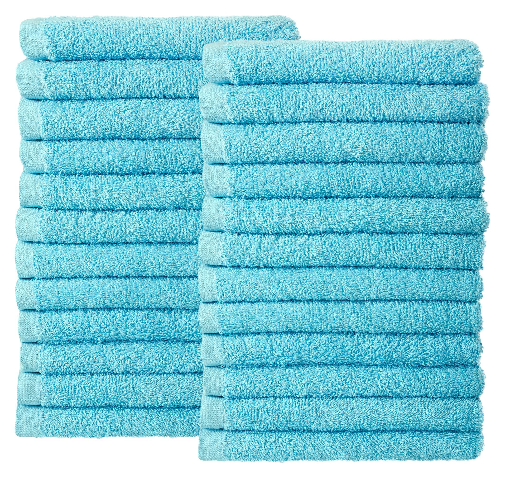 Bale Set 24pcs Sky Blue Plain Face Towel