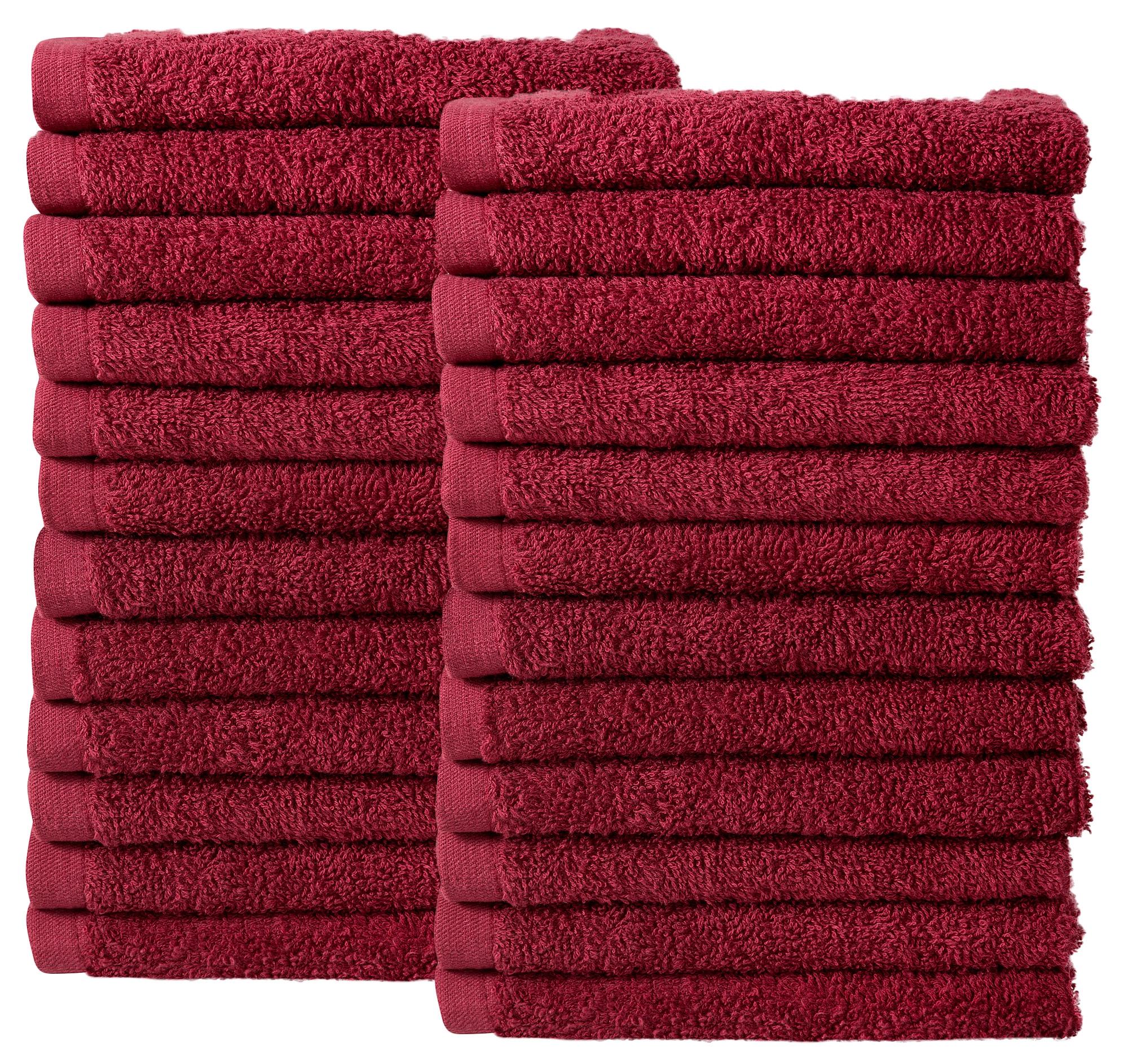 Bale Set 24pcs Burgundy Plain Face Towel