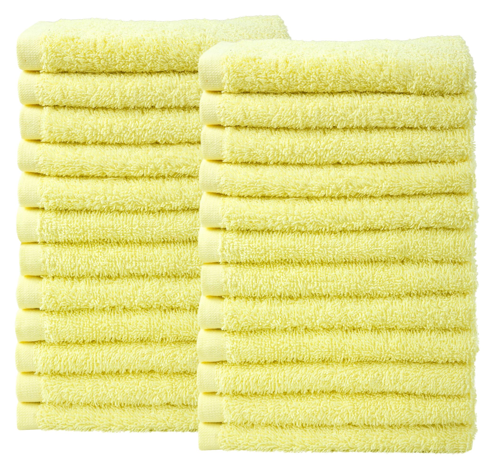Bale Set 24pcs Lemon Plain Face Towel