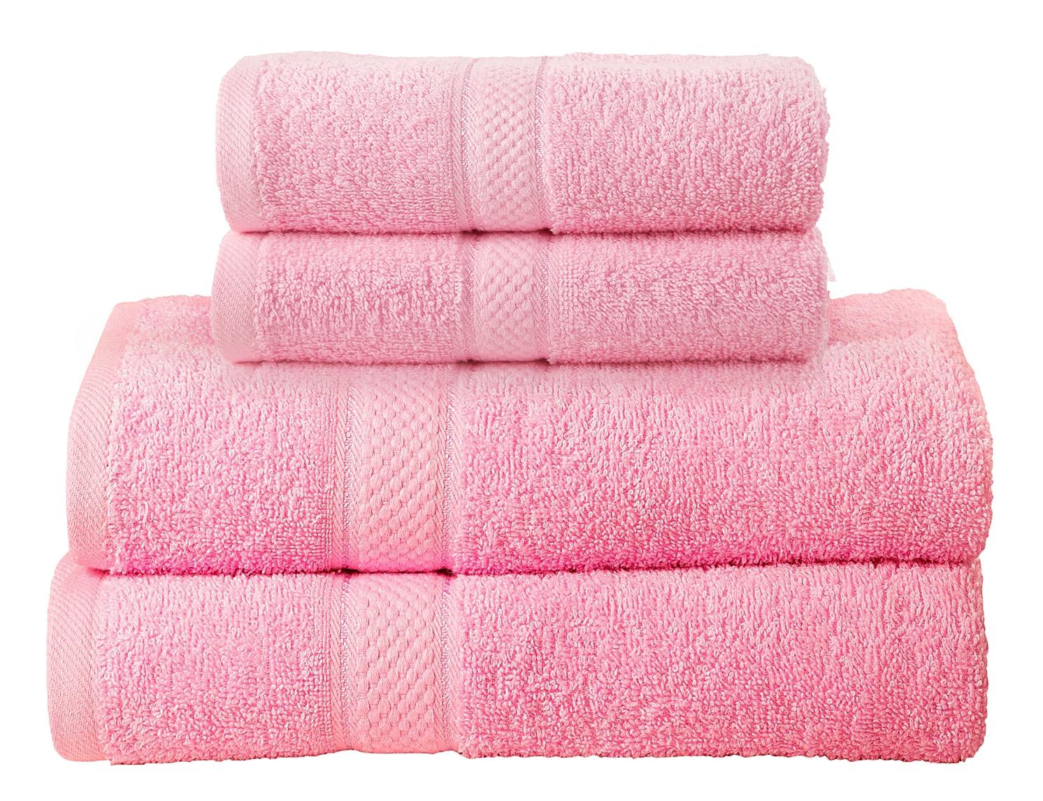 Bale Set 4pcs Blush Pink Plain 2x Hand Towel & Bath