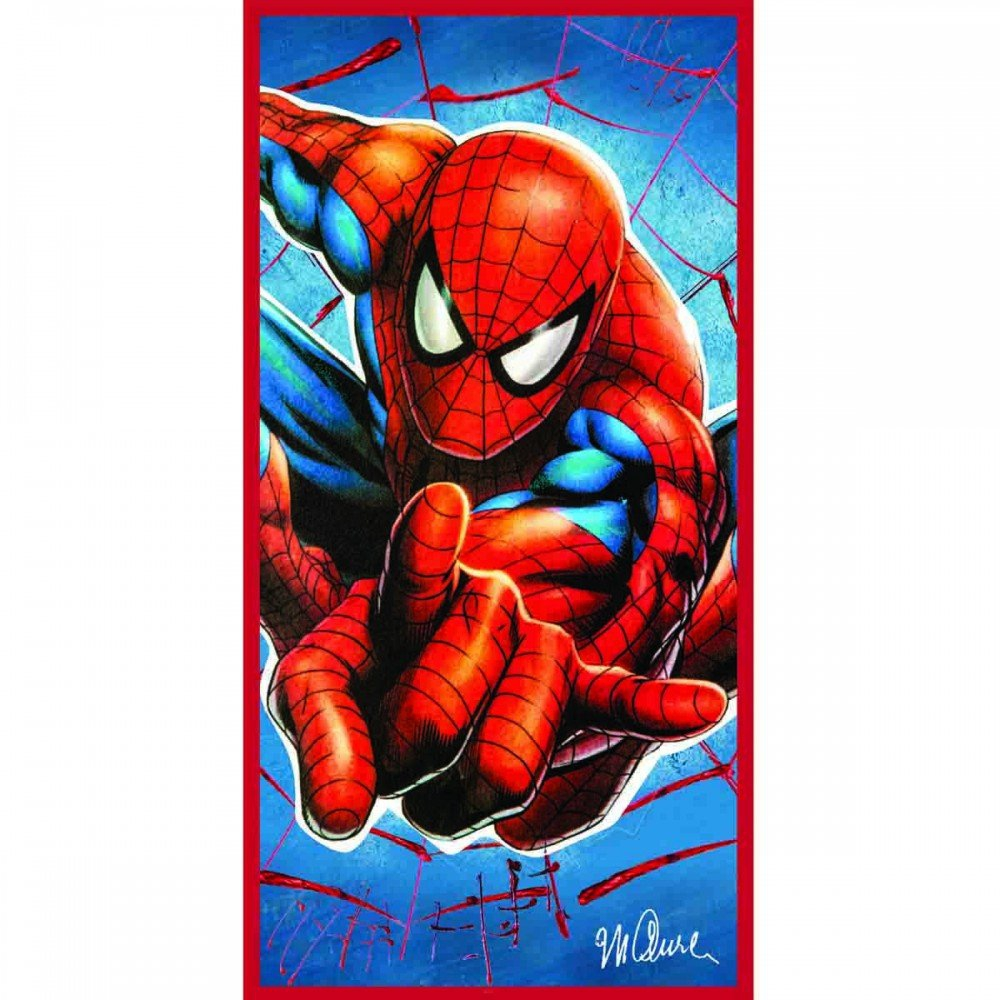 Marvel Celebrity Icons Spiderman Printed Beach Towel