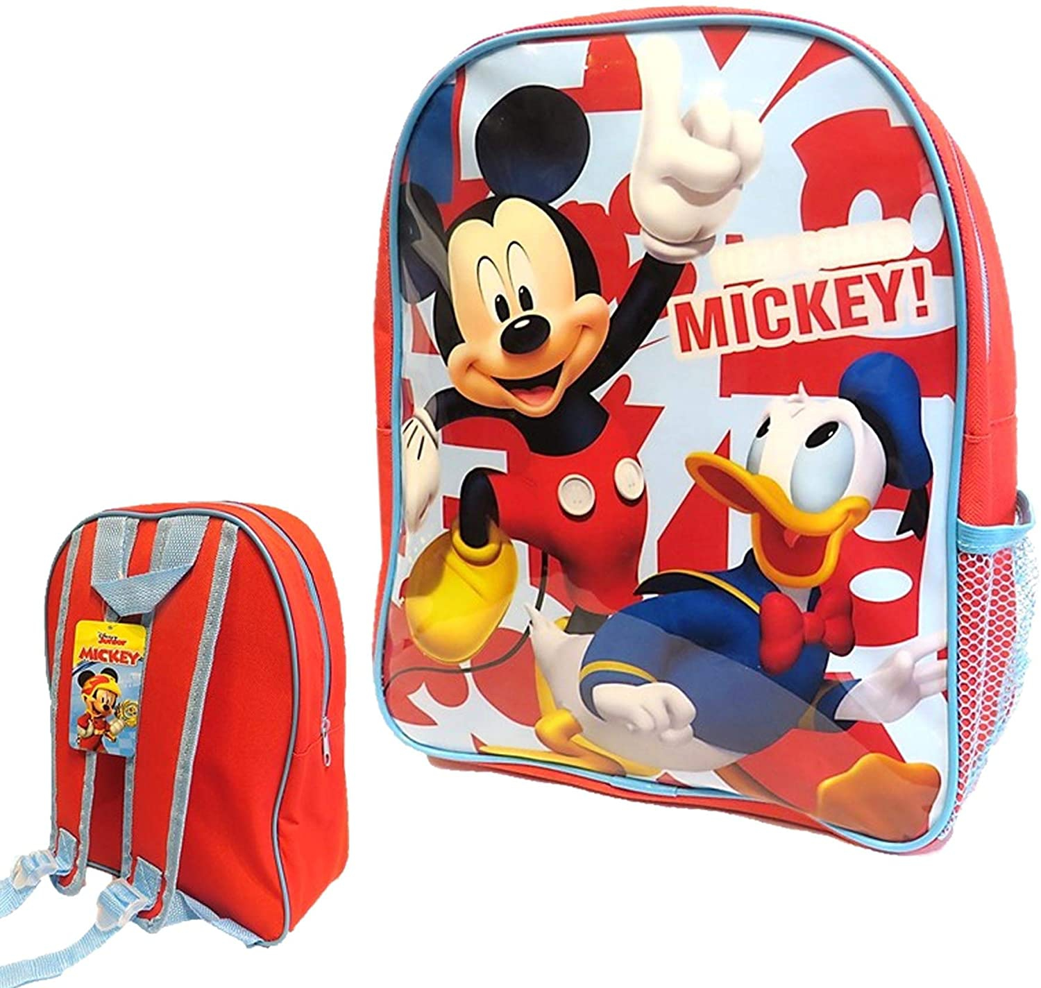 Mickey Mouse with Mesh Side Pocket School Bag Rucksack Backpack