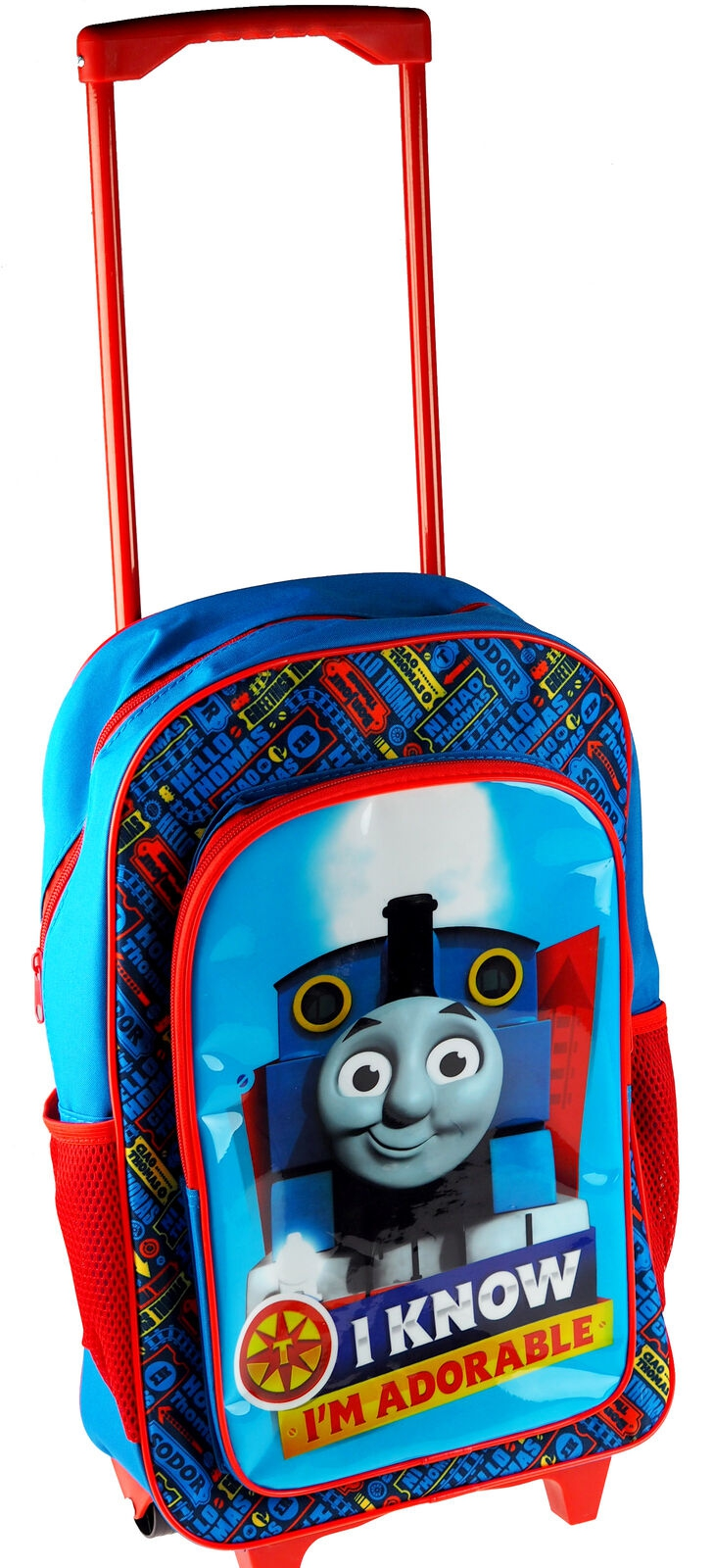 Thomas and Friends Blue Luggage Deluxe School Travel Trolley Roller Wheeled Bag