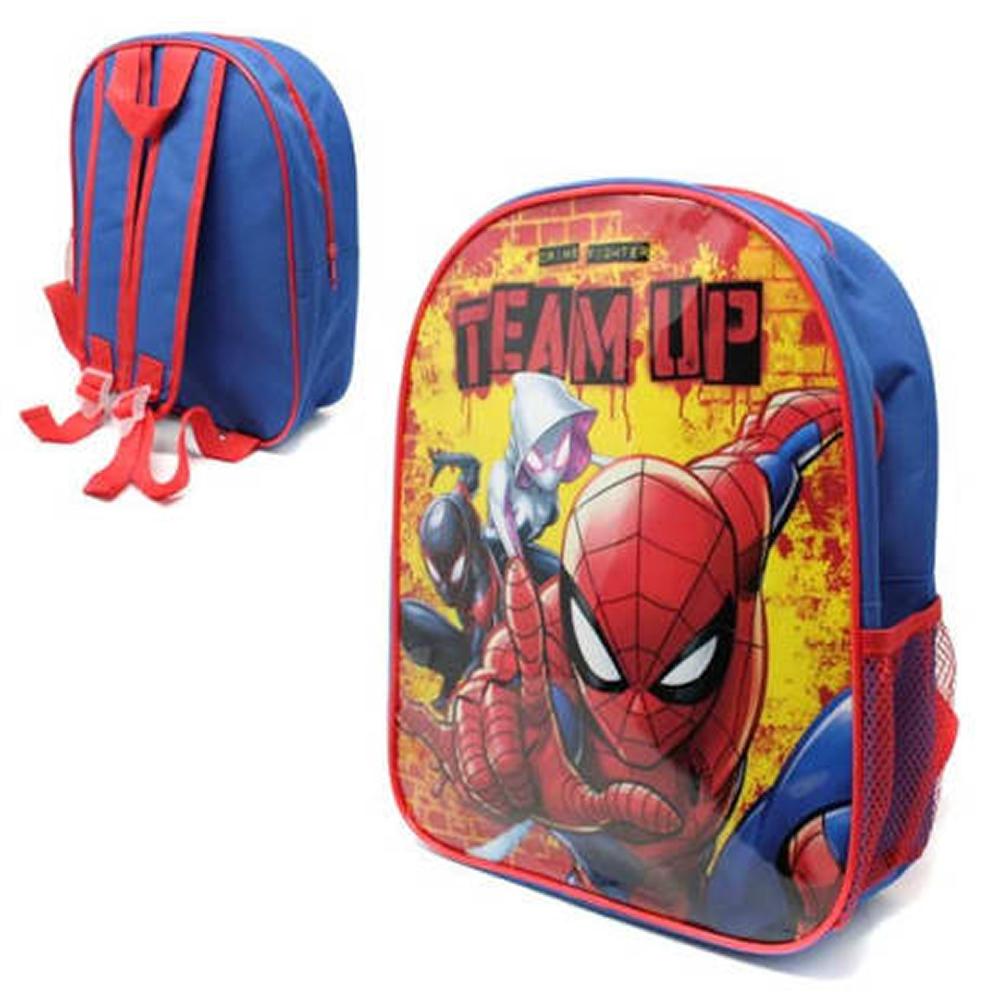 Spiderman with Mesh Side School Bag Rucksack Backpack