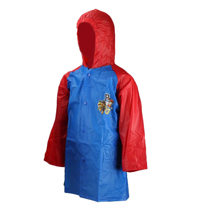 Paw Patrol Blue Kids 2-6 Years Raincoat