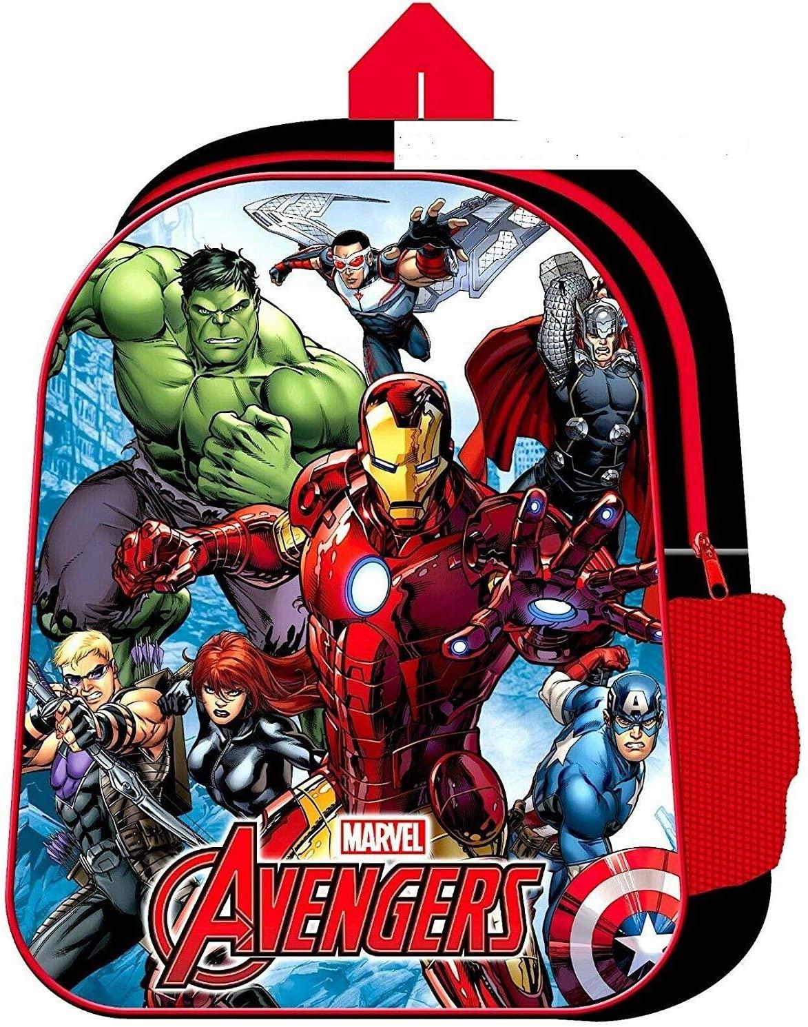 Marvel Avengers Superhero with Mesh Side Pocket School Bag Rucksack Backpack