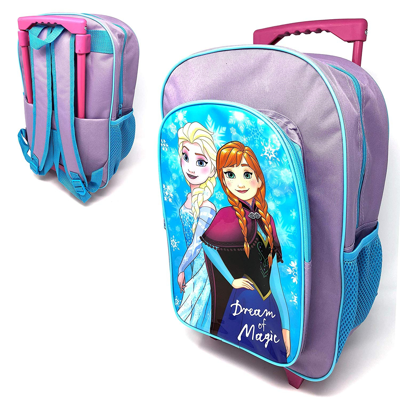Disney Frozen Luggage Deluxe School Travel Trolley Roller Wheeled Bag