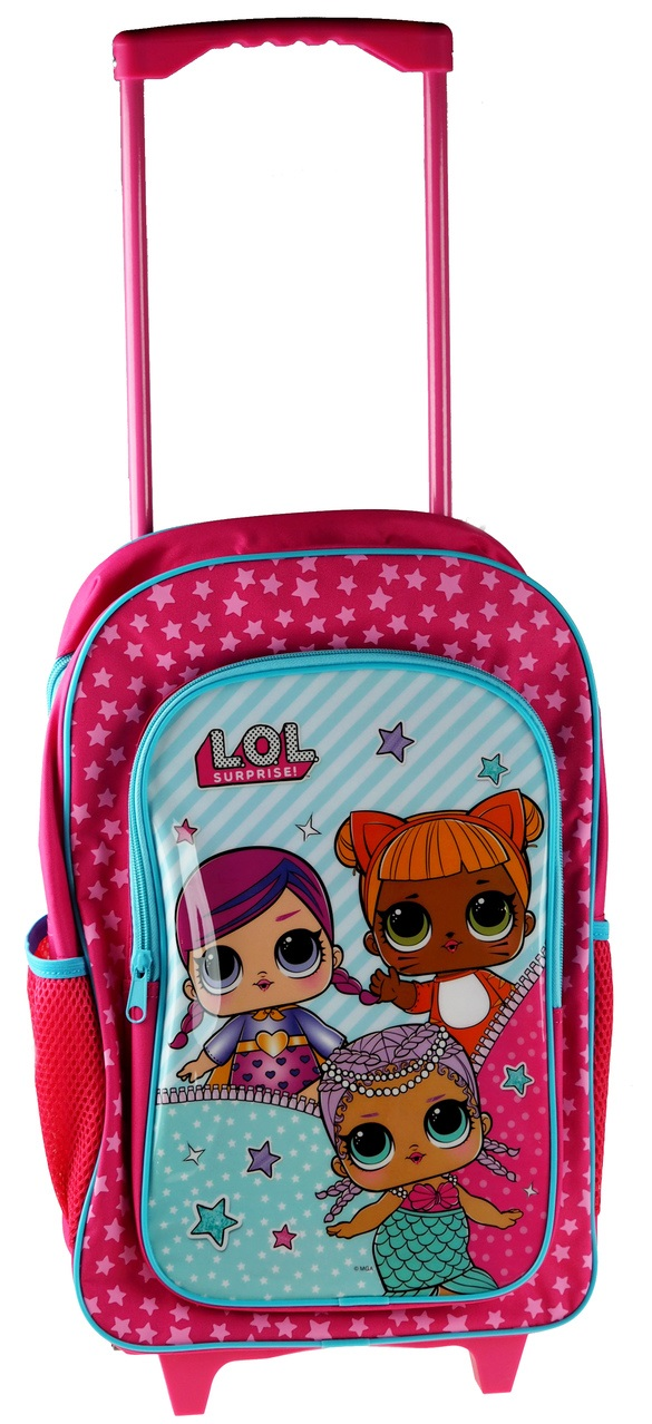 Lol Surprise Luggage Deluxe School Travel Trolley Roller Wheeled Bag