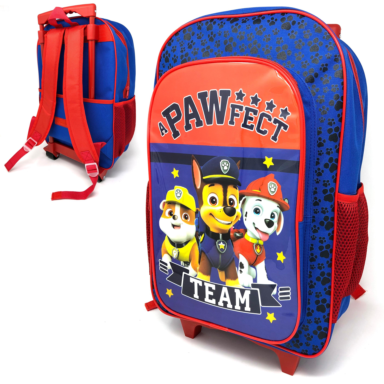 Paw Patrol Blue Luggage Deluxe School Travel Trolley Roller Wheeled Bag