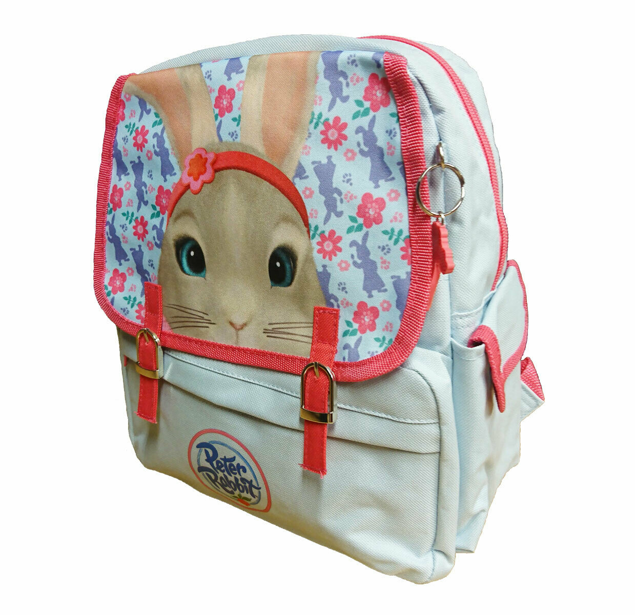 Peter Rabbit Girls Buckle Design Blue/pink School Bag Rucksack Backpack