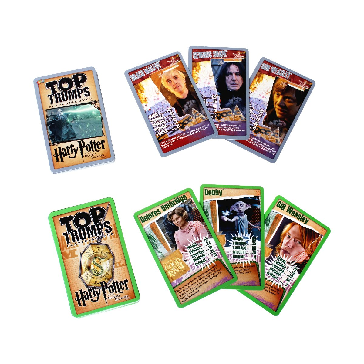 Harry Potter Slytherin Top Trumps Tin Card Game