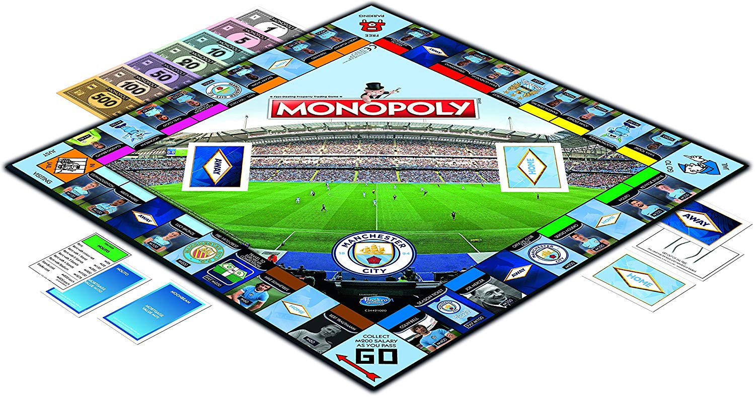 Manchester City Fc Monopoly Football Board Game Official