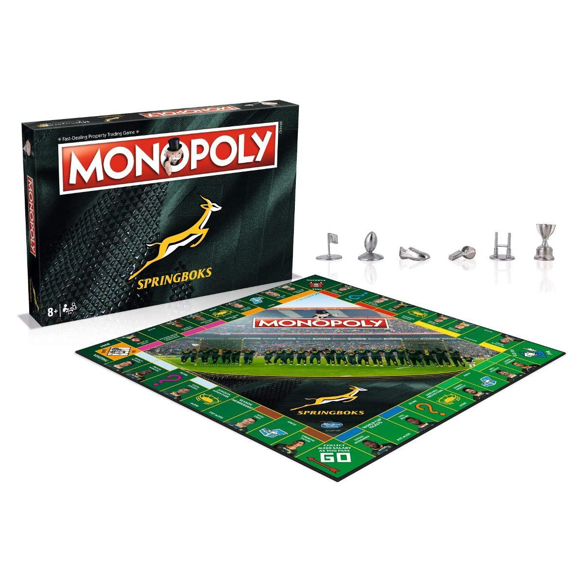 Monopoly Springboks Black Board Game