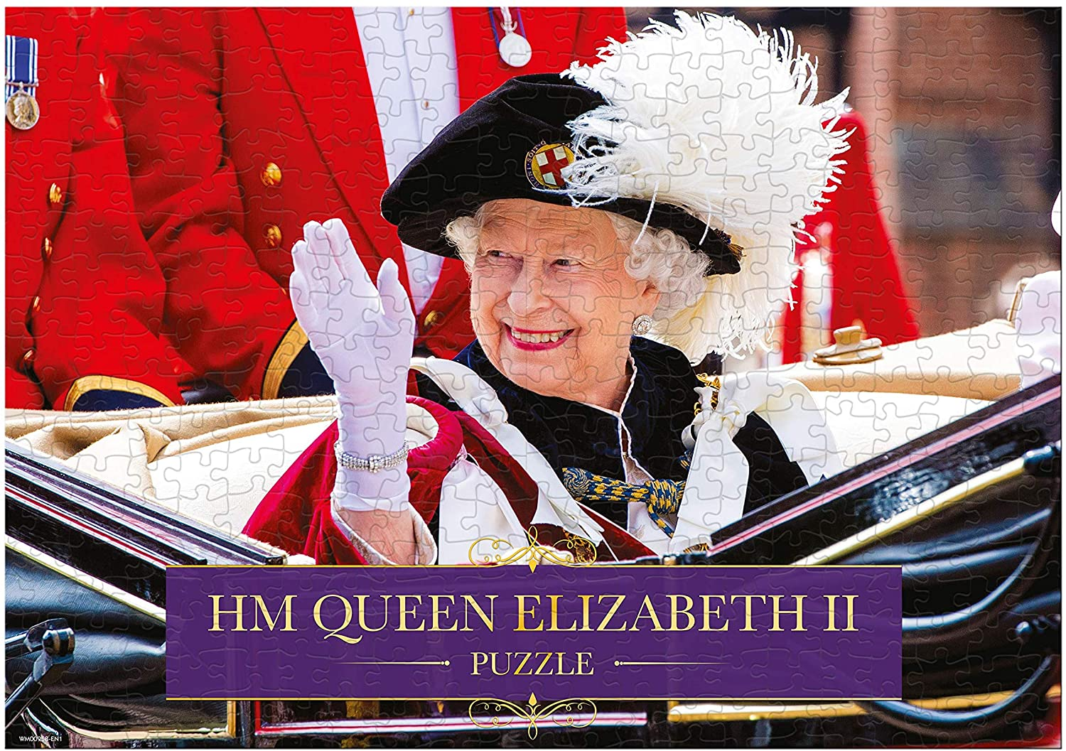 Hm Queen Elizabeth Ii Single Image 1000 Piece Jigsaw Puzzle Game