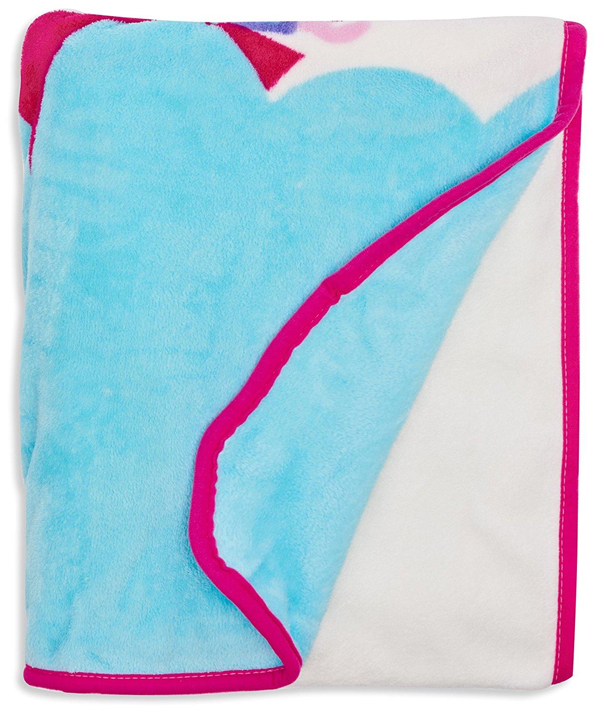 Peppa Pig 'Nautical' Coral Panel Fleece Blanket Throw