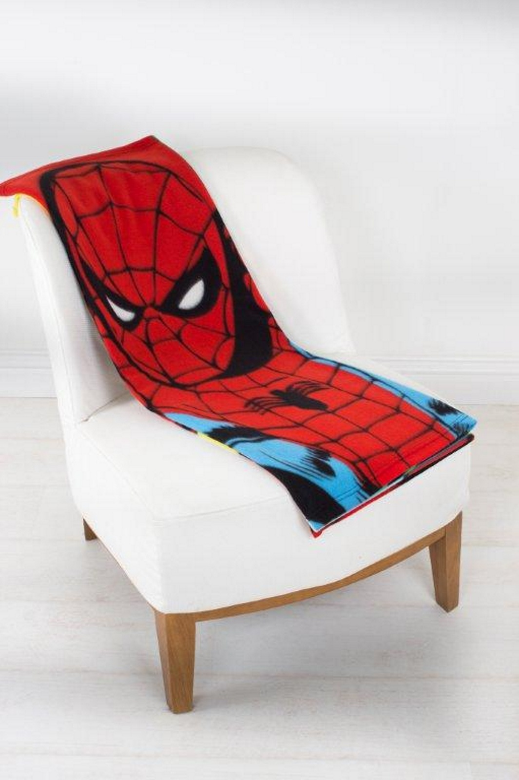 Spiderman 'Identity' Coral Panel Fleece Blanket Throw