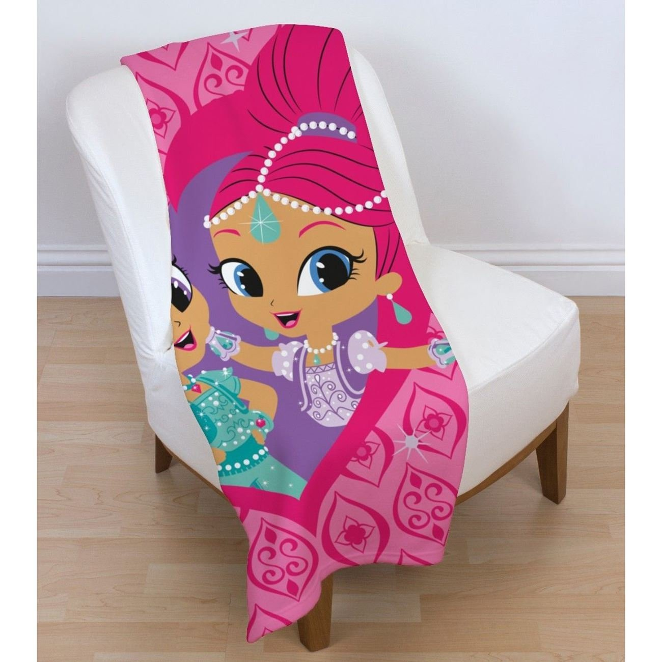Shimmer & Shine 'Zahramay' Panel Fleece Blanket Throw