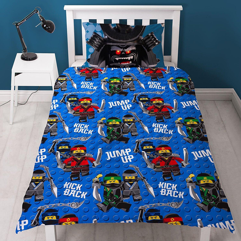 The Lego Ninjago Movie Crew Reversible Panel Single Bed