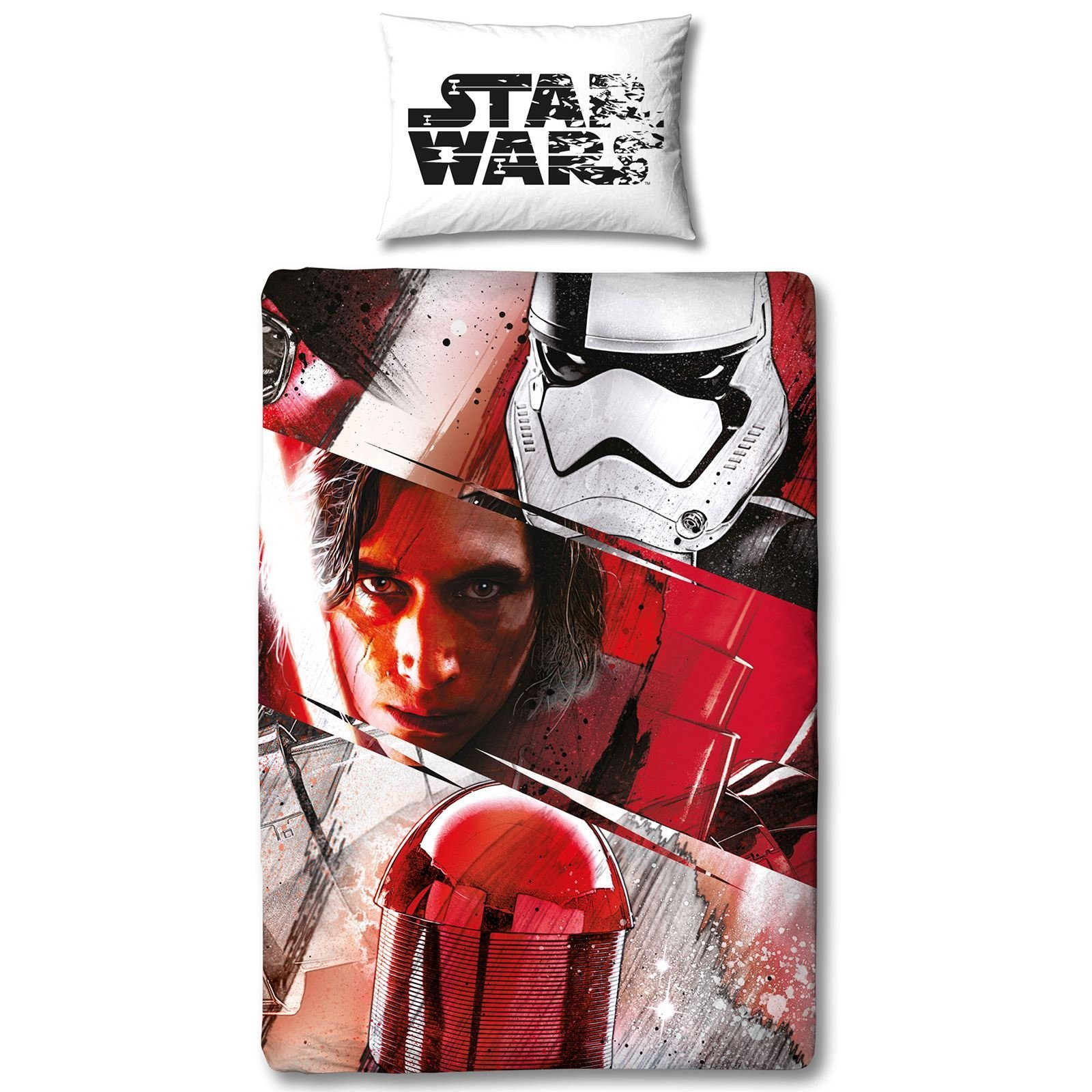 Disney Star Wars Ep 8 'Spawned' Reversible Panel Single Bed Duvet Quilt Cover Set