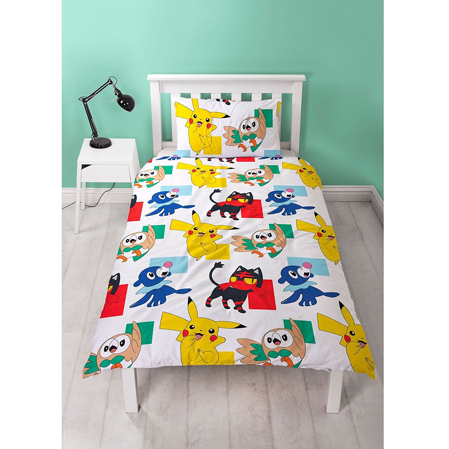 Pokemon Newbies Reversible Rotary Single Bed Duvet Quilt