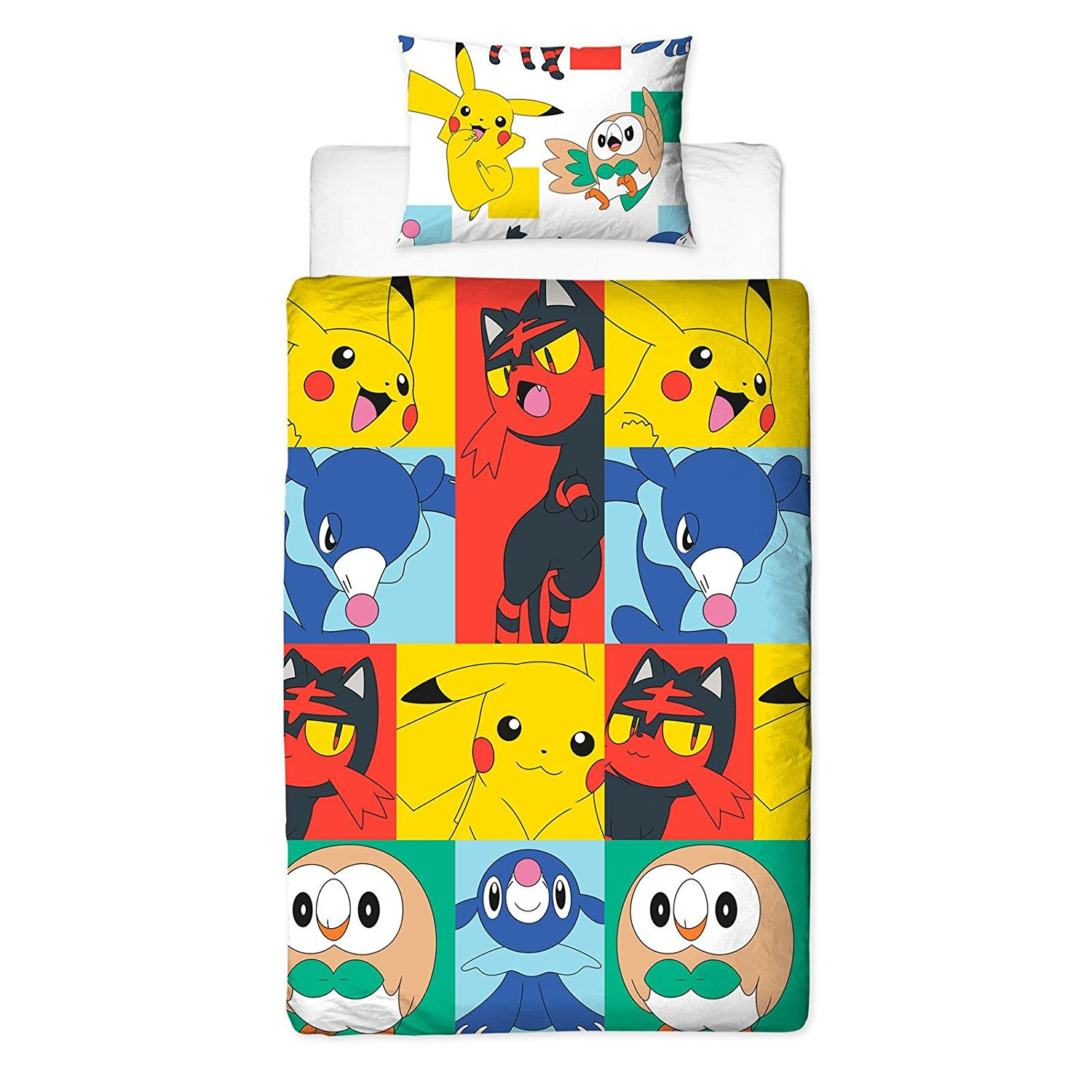 Pokemon 'Newbies' Reversible Rotary Single Bed Duvet Quilt Cover Set