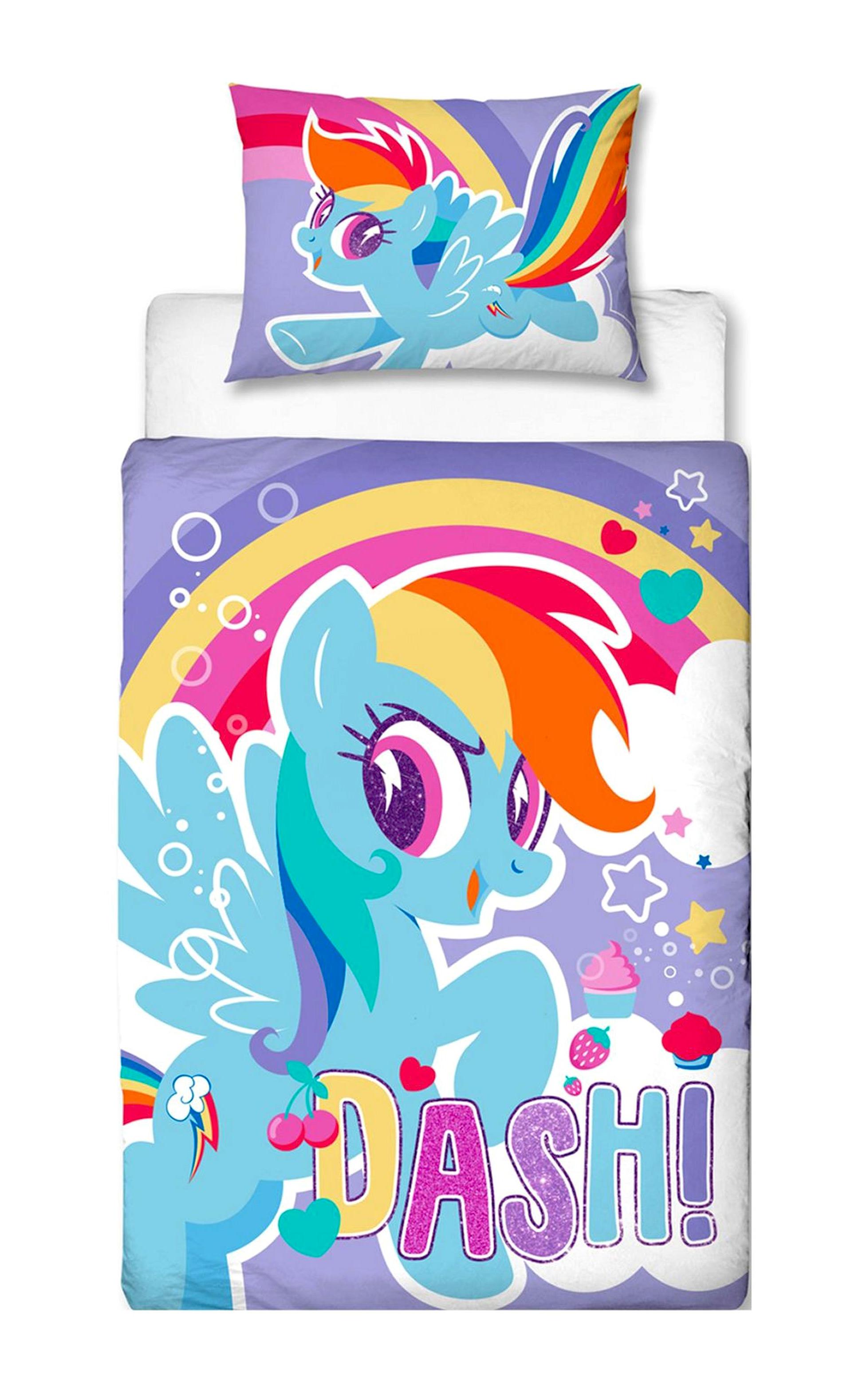My Little Pony Crush Panel Junior Cot Bed Duvet Quilt Cover Set ...