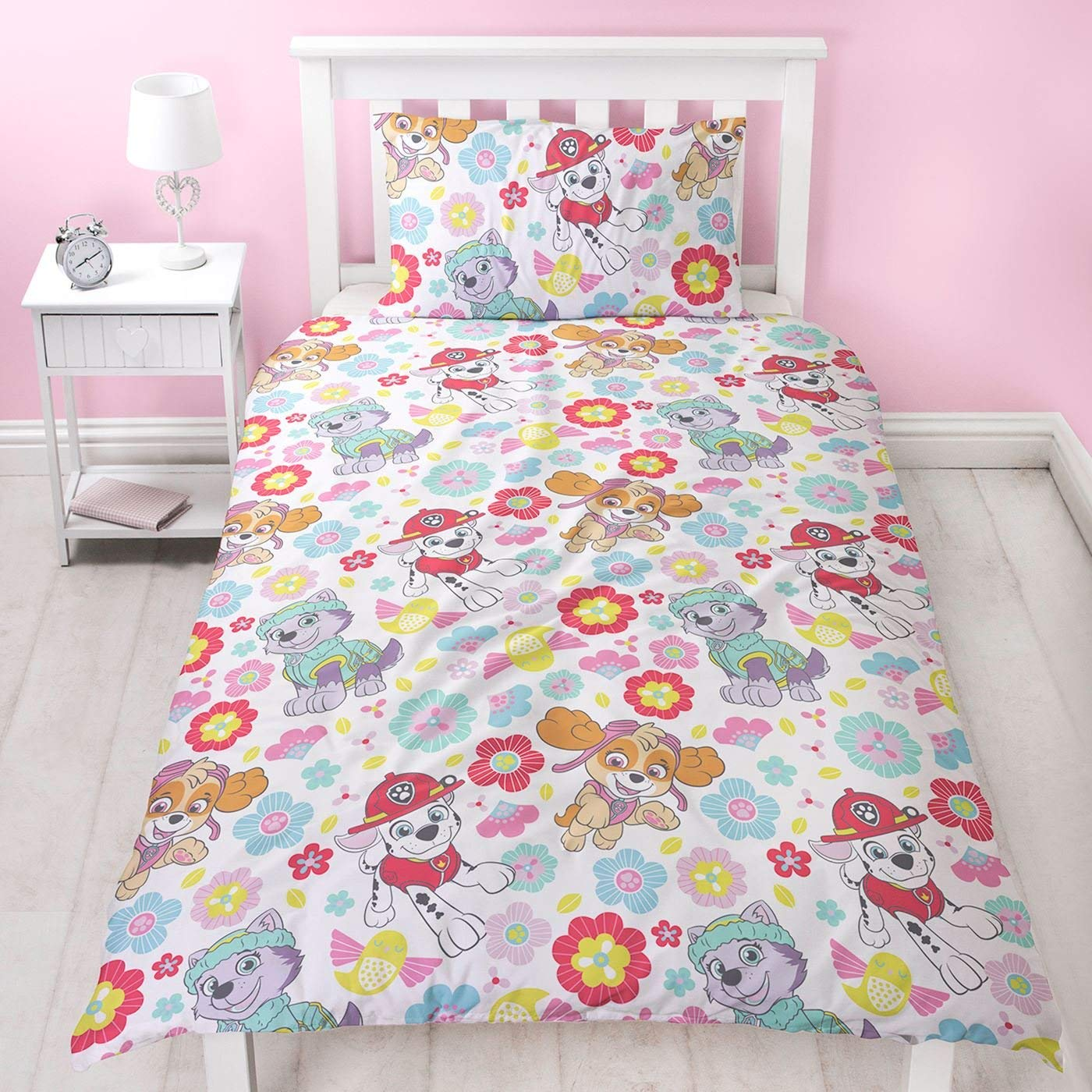 Paw Patrol Bright Rotary Single Bed Duvet Quilt Cover Set