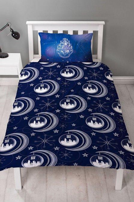 Harry Potter Celestial Blue Panel Single Bed Duvet Quilt Cover Set
