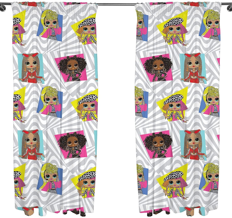 L.o.l Suprise! Official Omg Buzz 66 X 54 inch Drop Curtain Pair