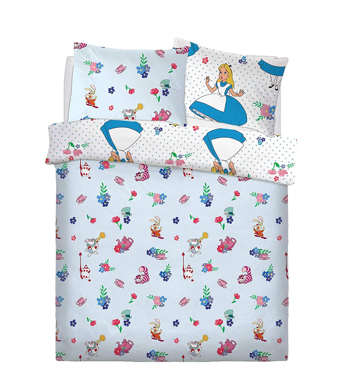 Disney Alice In Wonderland Rotary Double Bed Duvet Quilt Cover Set