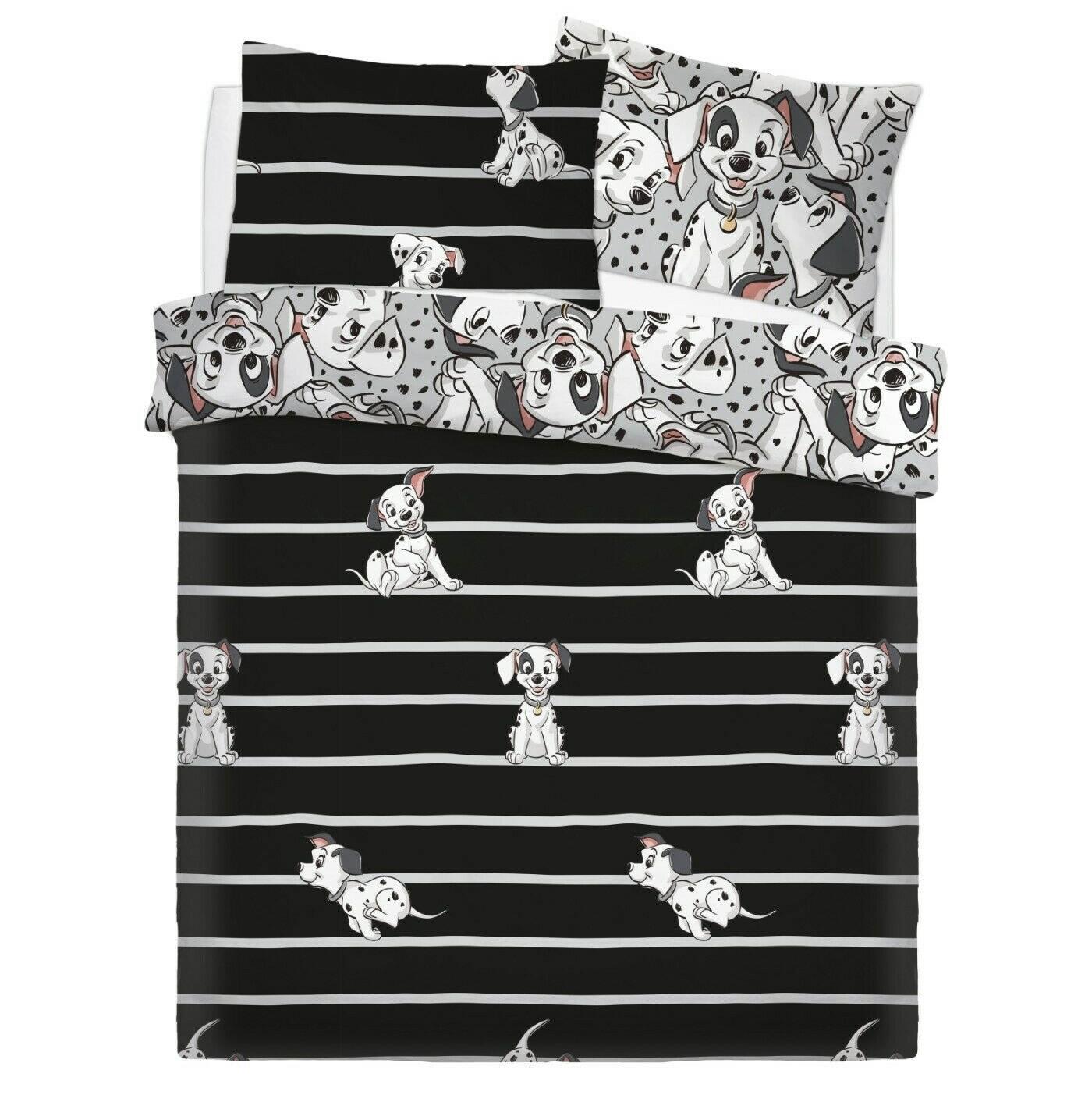 Disney 101 Dalmatians Reversible Rotary Double Bed Duvet Quilt Cover Set
